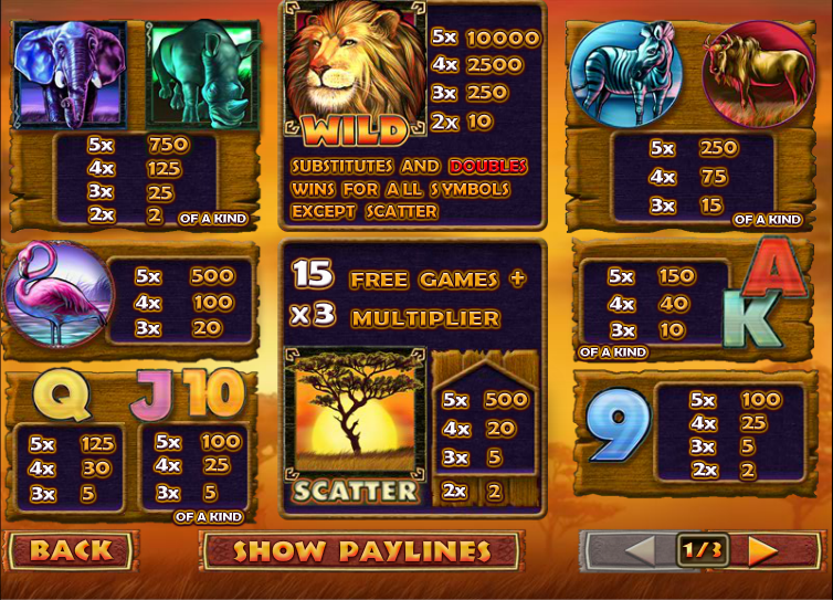 Safari Samba Slots - Play Now for Free or Real Money