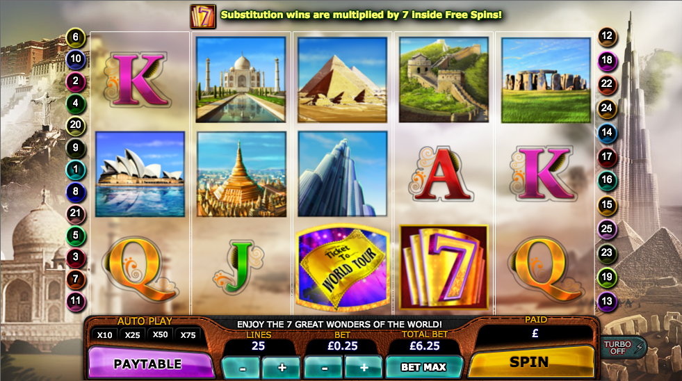 seven great wonders of the world slot
