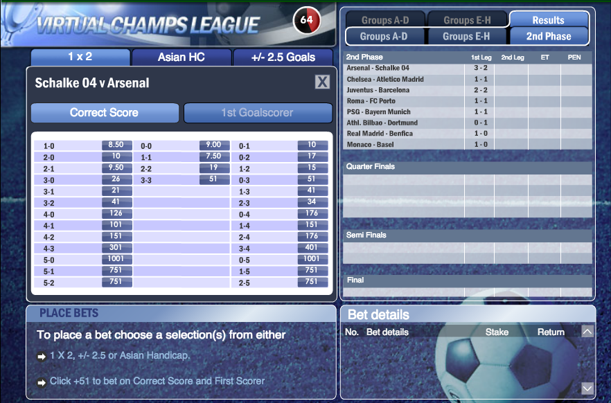 virtual champions league info