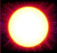 blazing stars sun