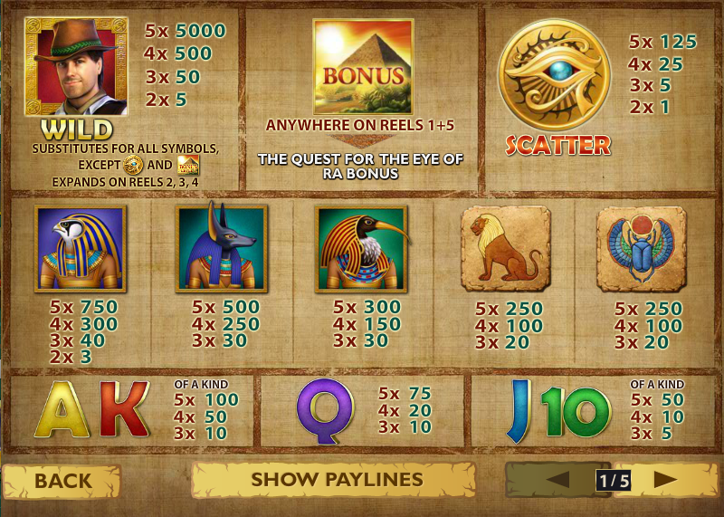 Play Daring Dave & The Eye of Ra Online Slots at Casino.com UK