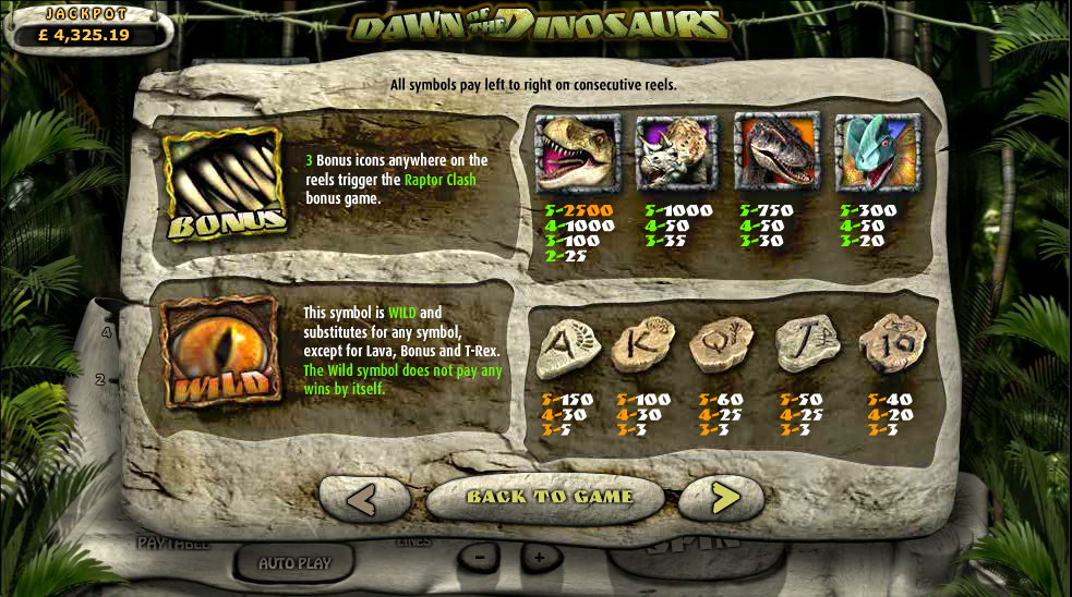 dawn of the dinosaurs information