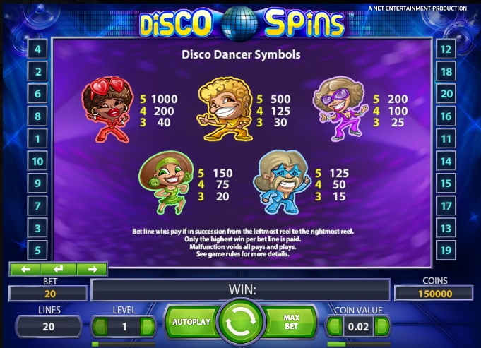 Disco Spins - Free Disco Slot Machine Online