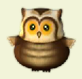 happy mushrooms owl