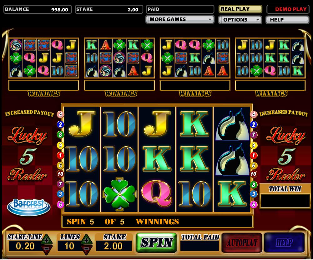 lucky 5 reeler slot