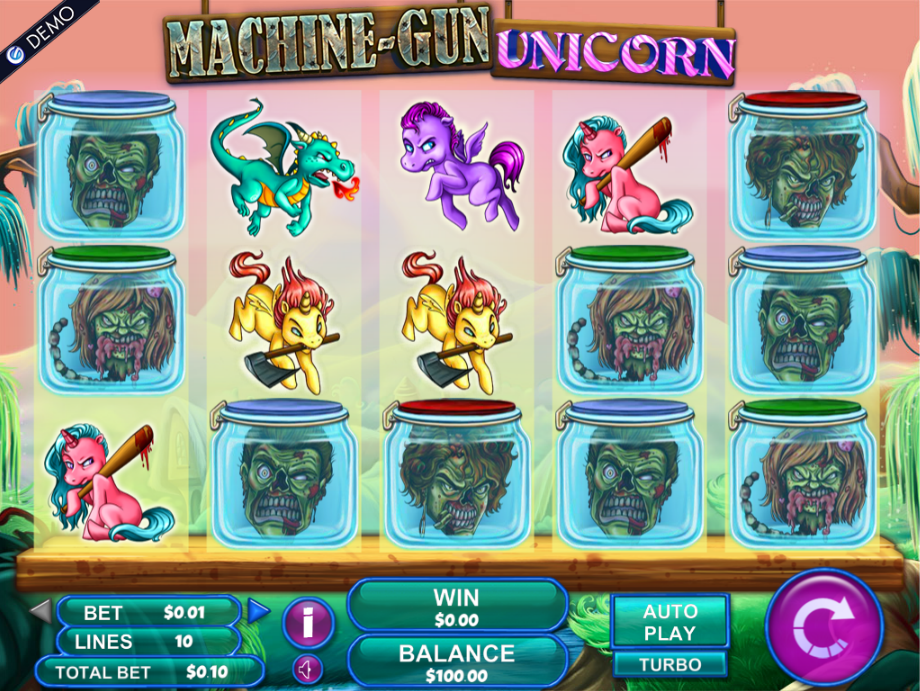 Machine Gun Unicorn Slot - Play for Free at VegasSlotsOnline