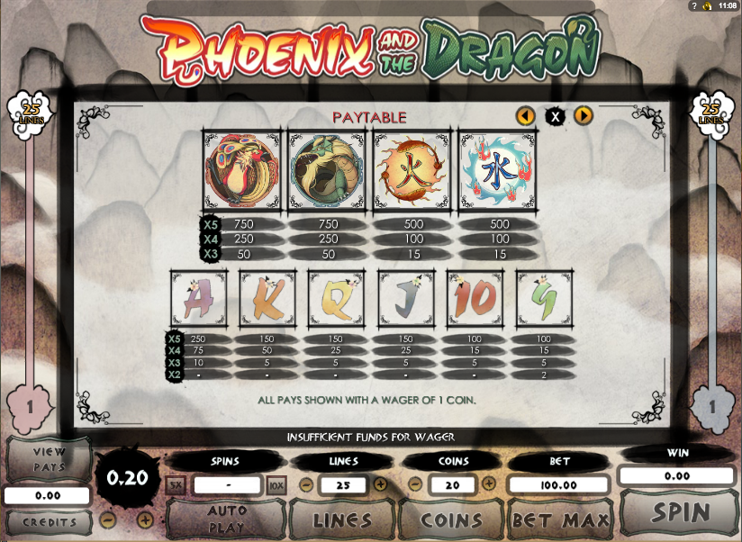 Phoenix and the Dragon Slot - Play for Free or Real Money