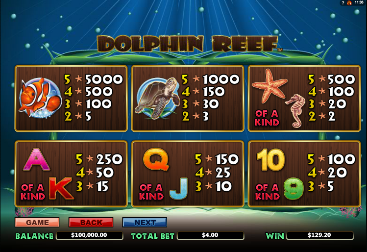 Play Dolphin Reef Online Slots at Casino.com NZ