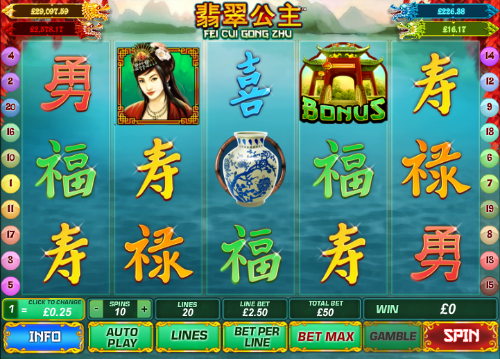 Play Fei Cui gong Zhu online Slots at Casino.com