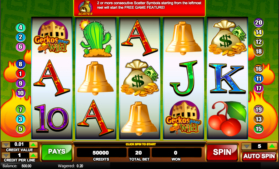 Geckos Gone Wild Slot - Play This Free Online Casino Game