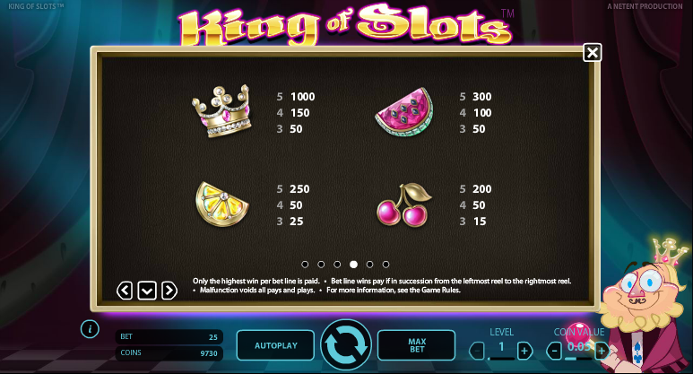 king of slots info