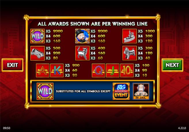 monopoly big event information