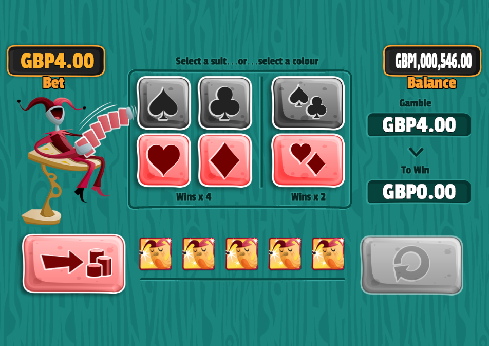 poker riches gamble screen