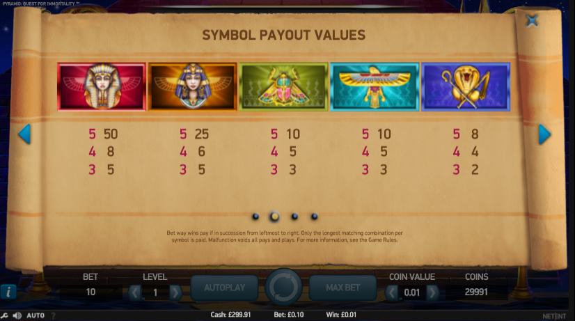 Play Pyramid Quest for Immortality Online Slots at Casino.com New Zealand