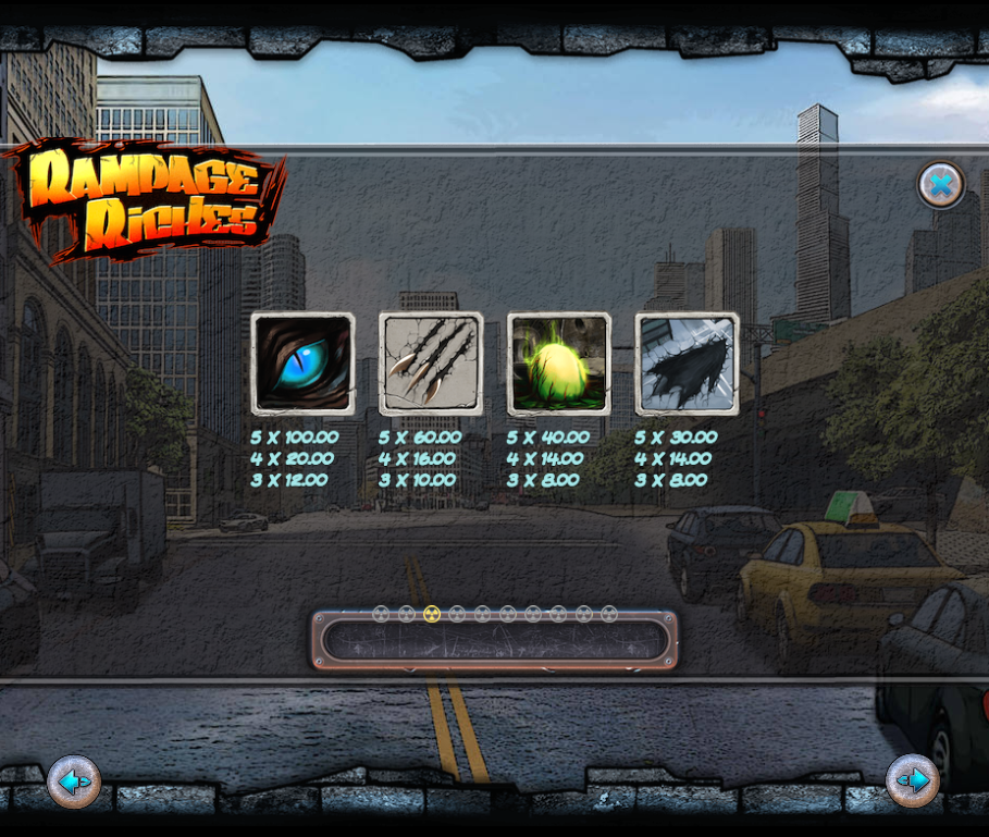 rampage riches information
