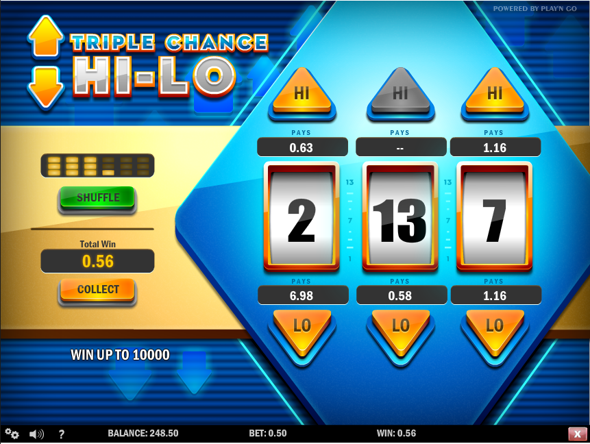 triple chance hi lo screenshot