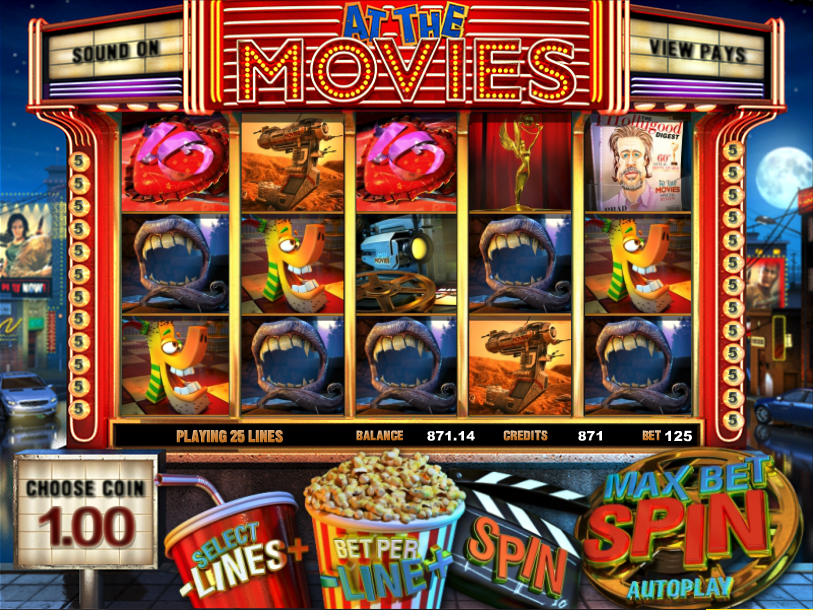 At the Movies Slots - Free 30 Payline At the Movies Slot Game!