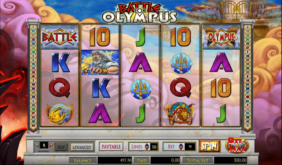 Most of Amaya's online slots games have flexible betting ranges and Battle for Olympus is no exception.The coin values begin at and they go up to Since this slots game has so many paylines, it means the maximum bet per spin is Palu