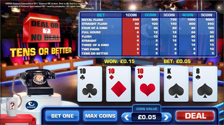 Deal or no deal casino games casino rewards casinos