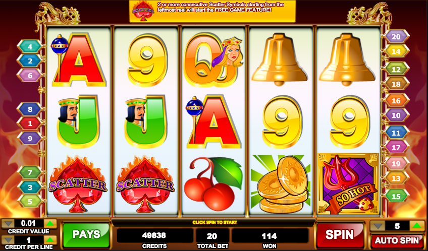 Flaming Fruit Slot Machine - Play Penny Slots Online