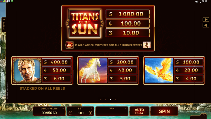 Titans Of The Sun Hyperion Slots - Play for Free Online