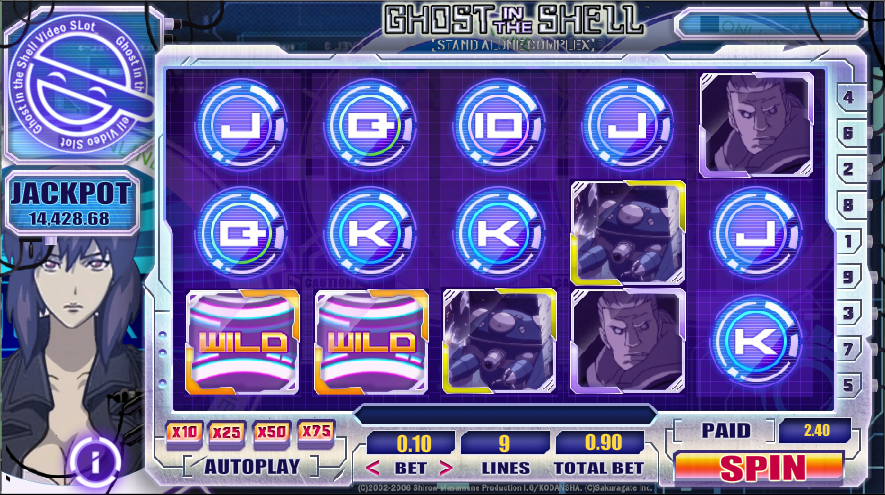 Ghost in the Shell Slot Machine