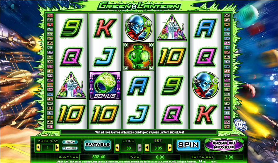 the green lantern casino