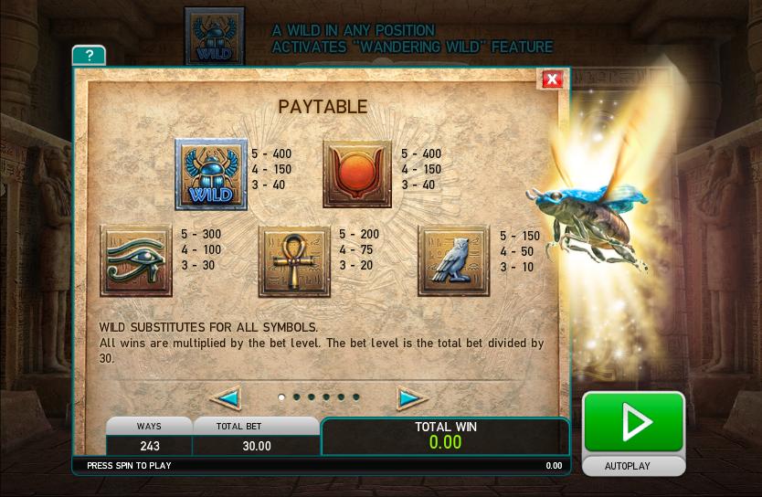 Khepri The Eternal God Slot - Play Online for Free Instantly