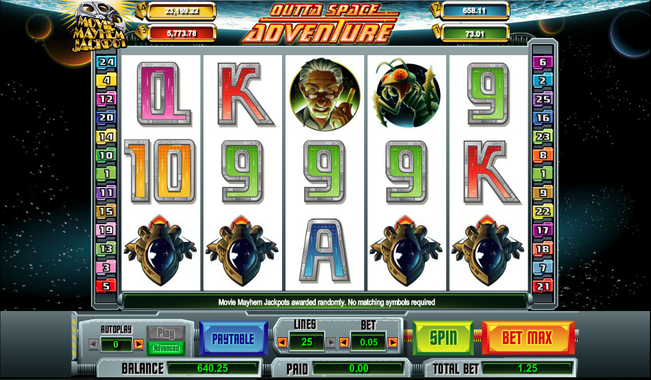 outta space adventure slot