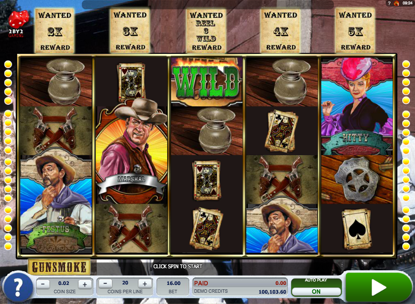 Gunsmoke Slots - Play this Simbat Casino Game Online