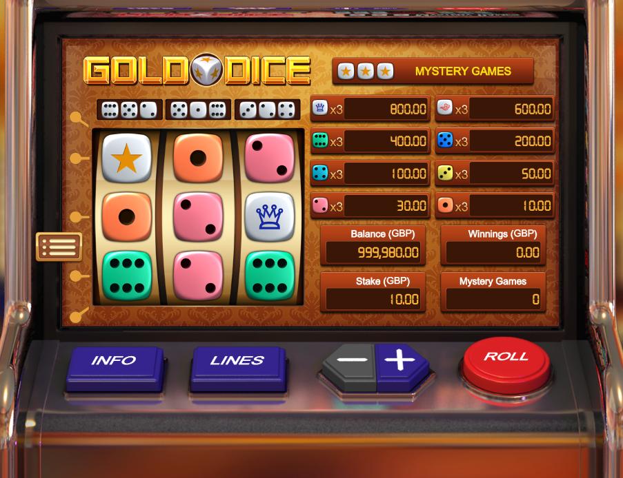 gold dice screenshot