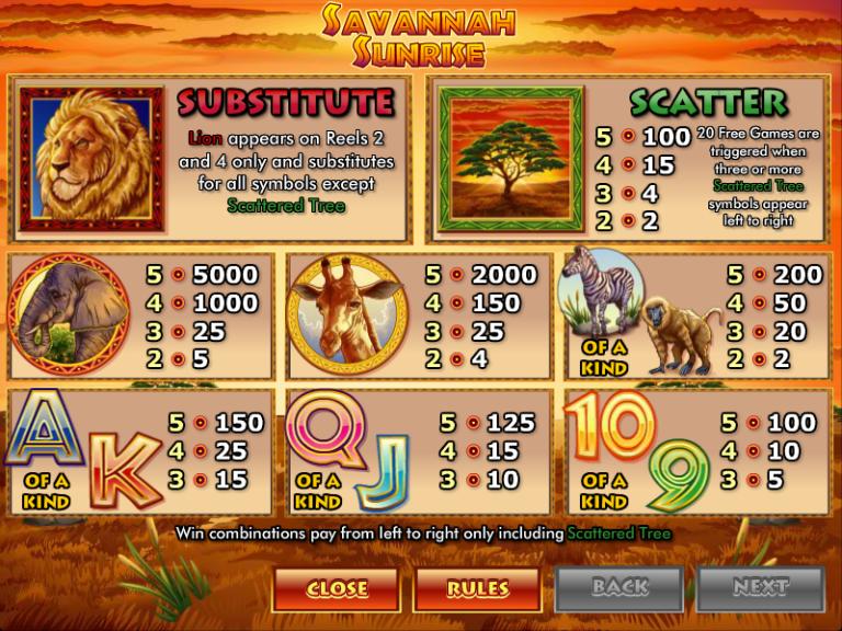 Play The New Savannah Sunrise Slot From NextGen Gaming