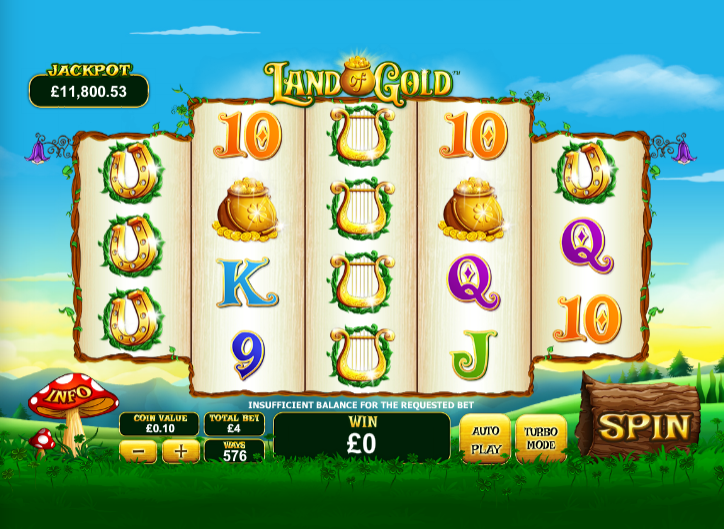 Play Land of Gold Online Slots at Casino.com NZ