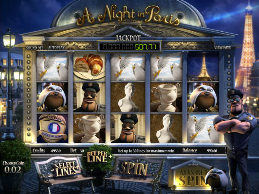A Night in Paris Slots - Free A Night in Paris 3D Slot Game