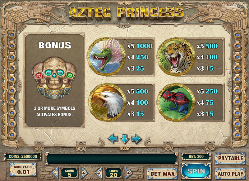 Aztec Princess Slot - Try it Online for Free or Real Money