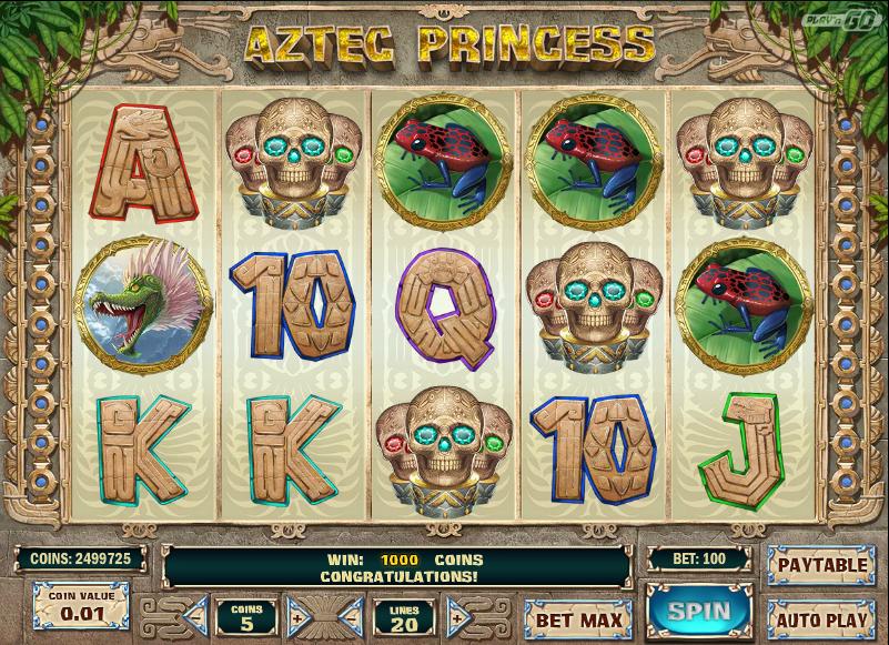 aztec princess screenshot