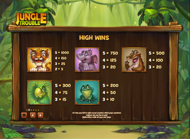jungle video slots