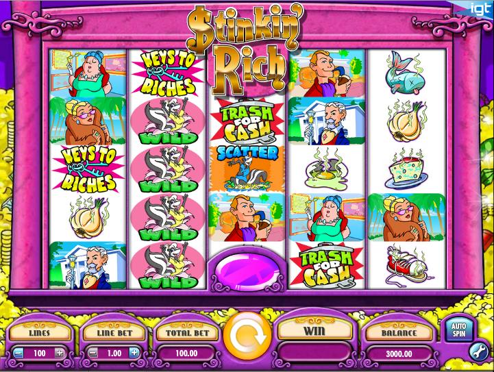 stinkin rich slot machine software