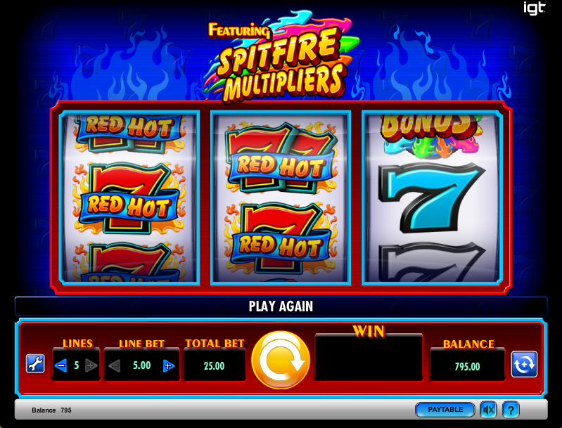 Hot 7's Slot Machine Review & Free Instant Play Casino Game