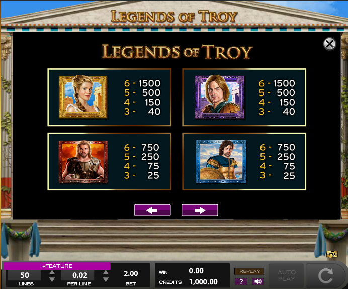 Legends of Troy Slot - Play Free High 5 Games Online