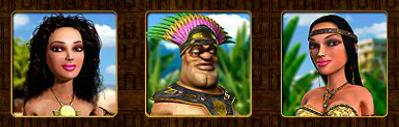 aztec treasures chars