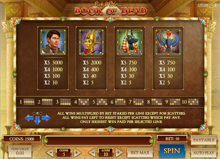 book of dead casino uk