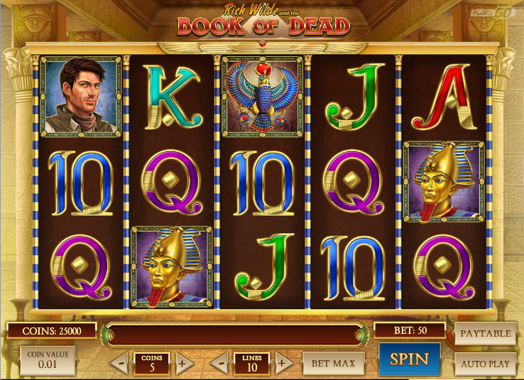 play book of dead slot online