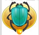 pharaoh king scarab