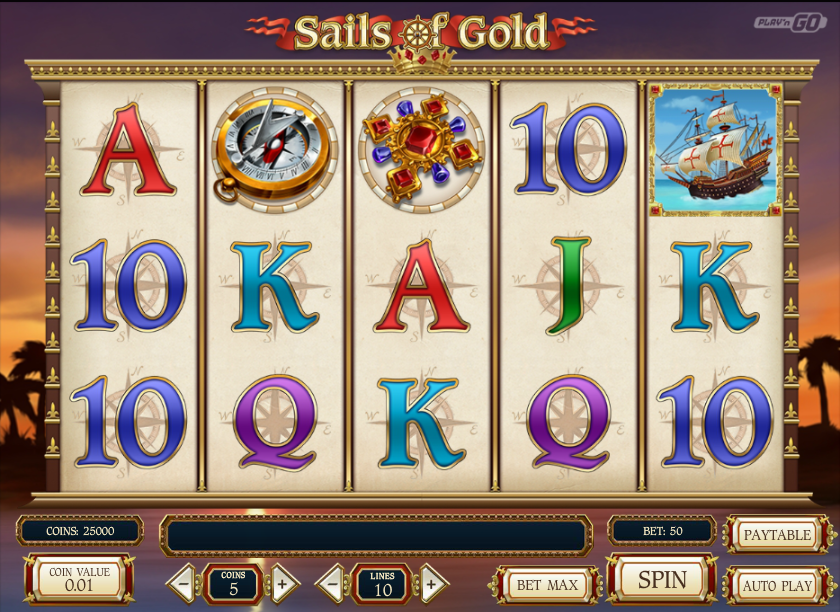 Sails of Gold Slot - Read the Review and Play for Free