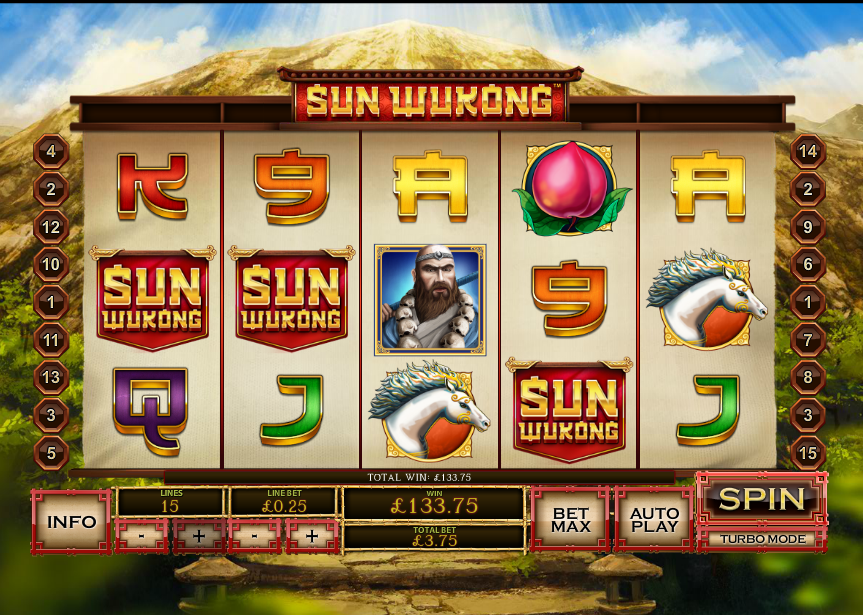 Play Sun Wukong Online Slots at Casino.com NZ