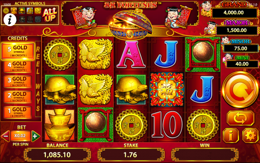 Online slot game 88