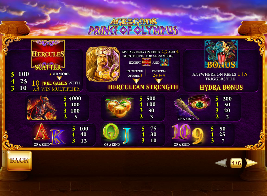Age of the Gods: Prince of Olympus Slots - Play for Free Now