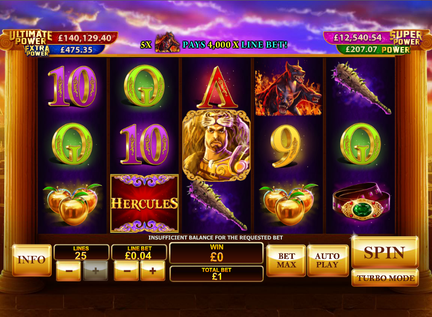 Play Age of the Gods: Prince of Olympus slots at Casino.com CA