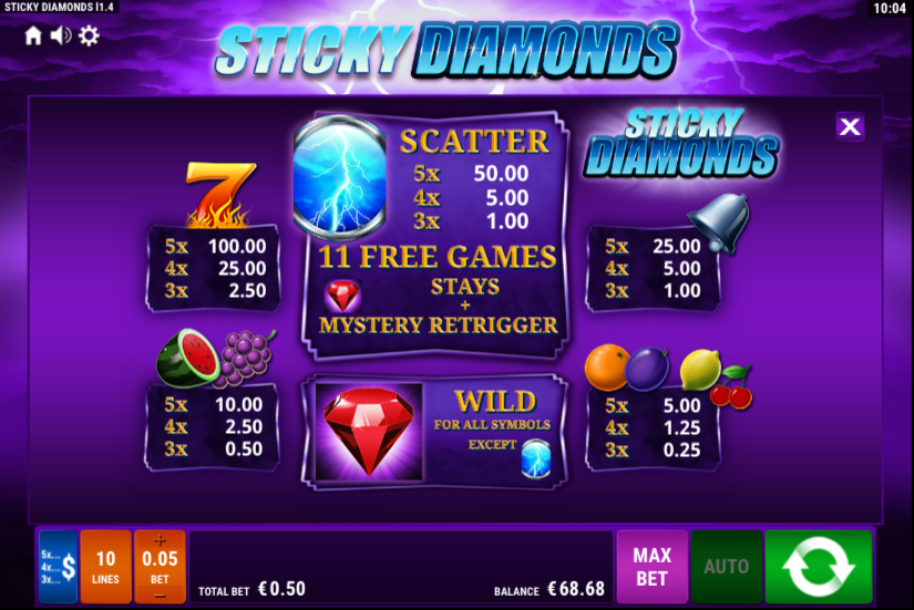 Spiele Sticky Diamonds - Video Slots Online